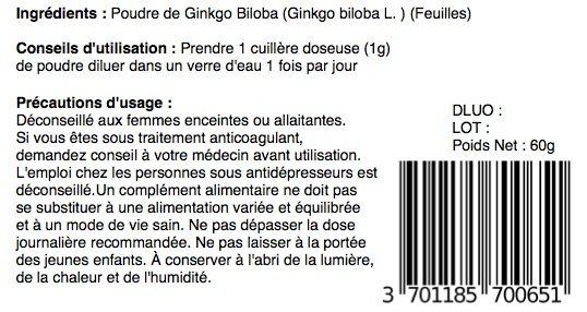 ginkgo biloba indications