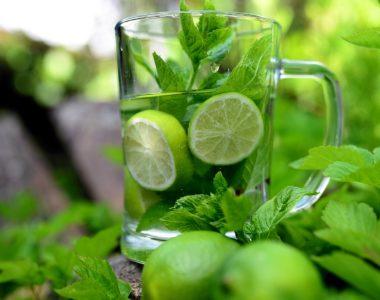 eau detox menthe poivrée